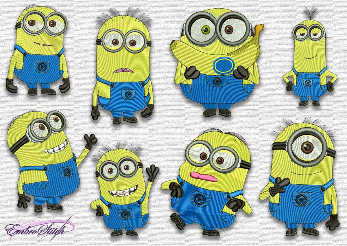 The pack of embroidery designs Minions