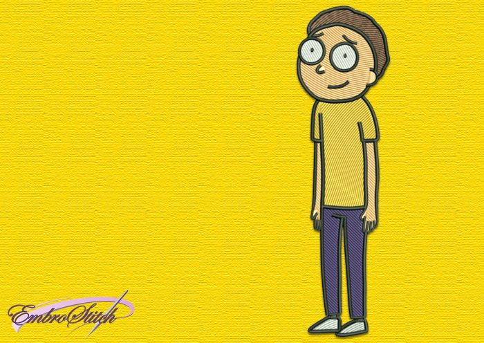 The embroidery design Morty is downloadable zip-file
