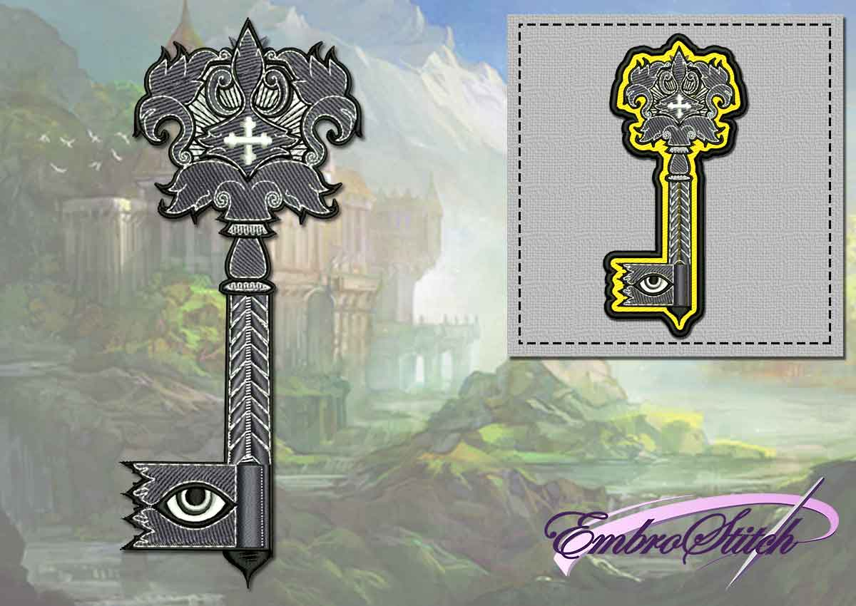 The embroidery design Mystical key