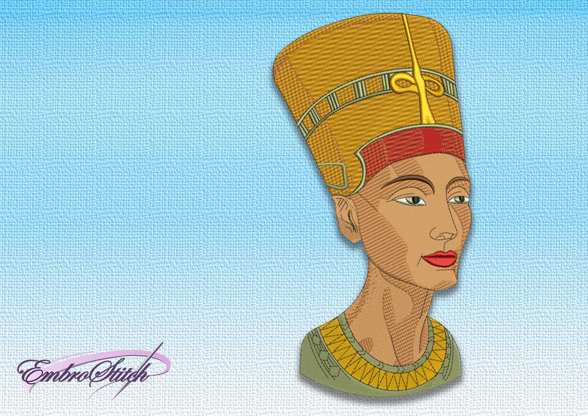 The embroidery design Nefertiti