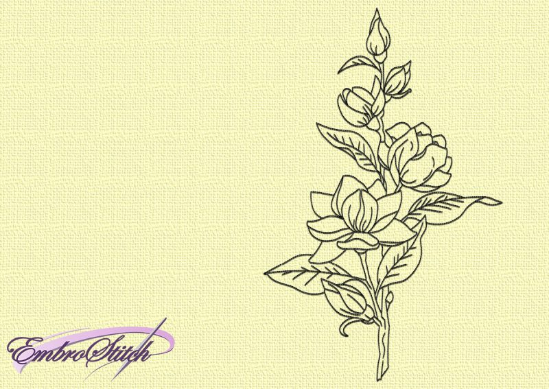 Theembroidery design Nice flowers is easy to embroider thanks to using only run stitching elements.