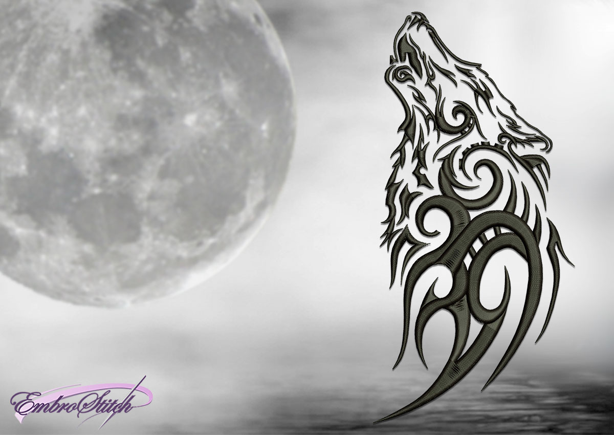 The embroidery design Night wolf