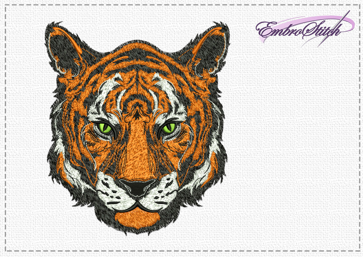 The high quality embroidery design Noble tiger