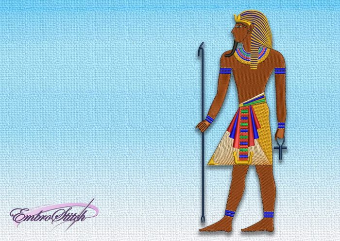 The embroidery design Pharaoh in profile