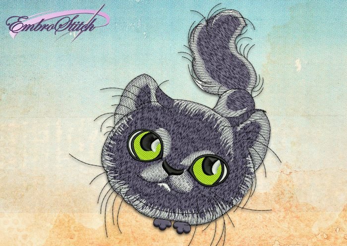 This Pleading Kitten design was digitized and embroidered by Embrostitch studio