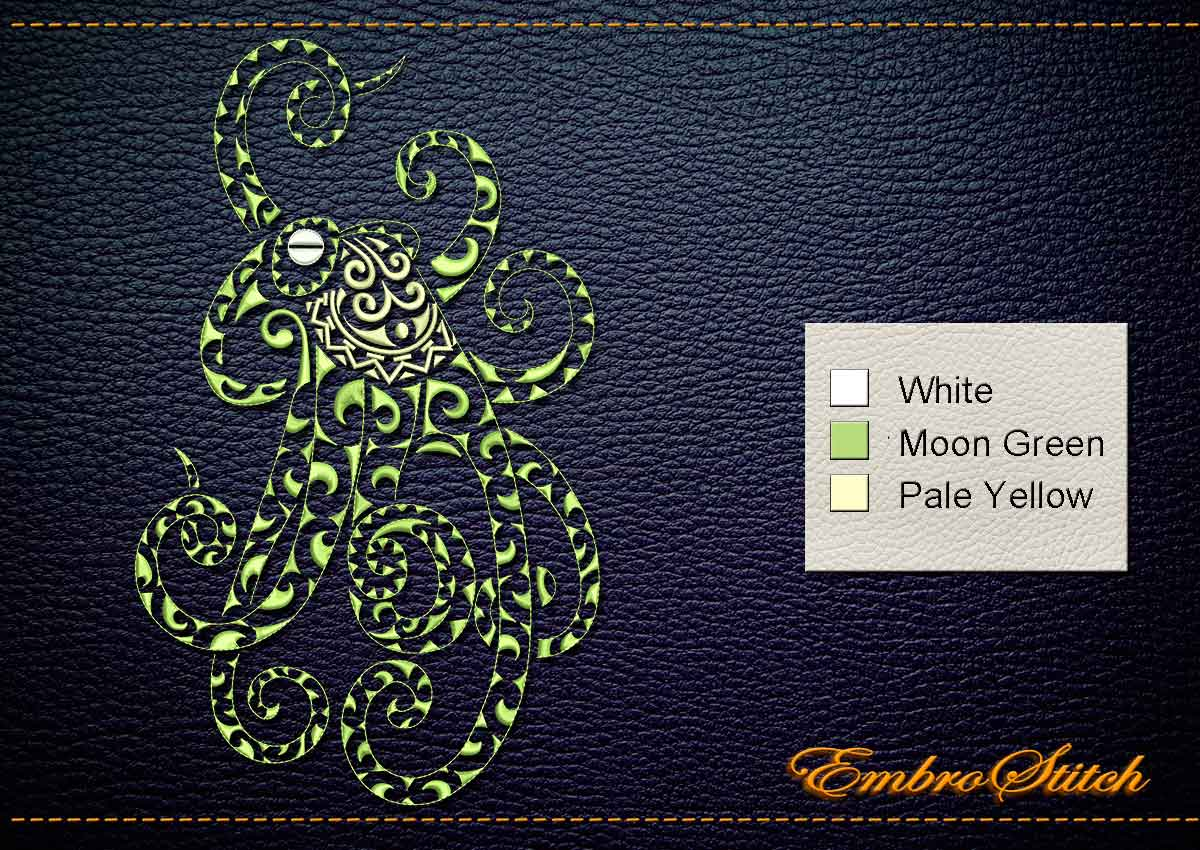 Cthulhu Embroidery Design 3 Sizes 8 Formats Embrostitch