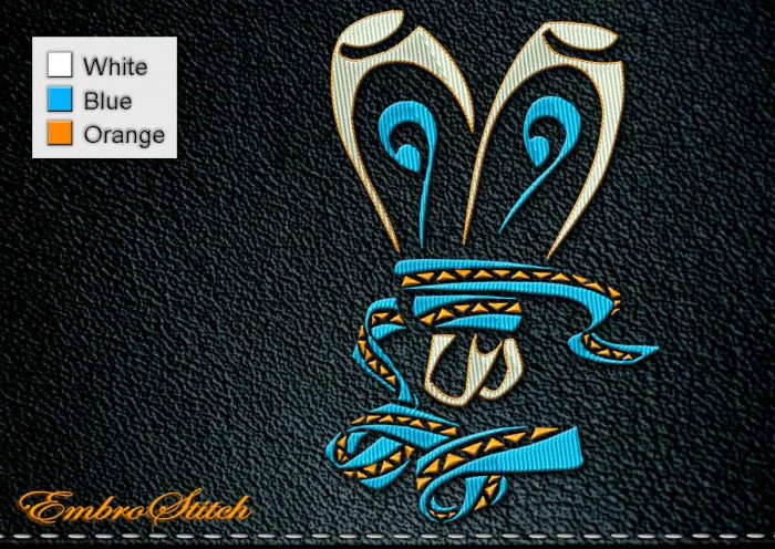 This Polynesian Tattoo Pointe Shoes design was digitized and embroidered by Embrostitch studio
