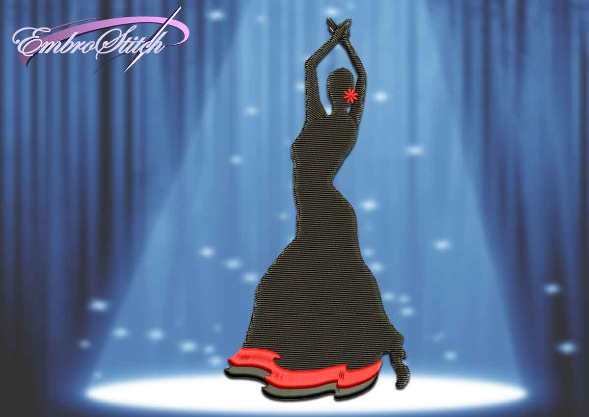 The embroidery design Popular Spanish dance Flamenco