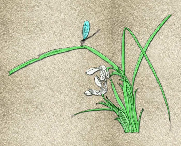 Reed embroidery design