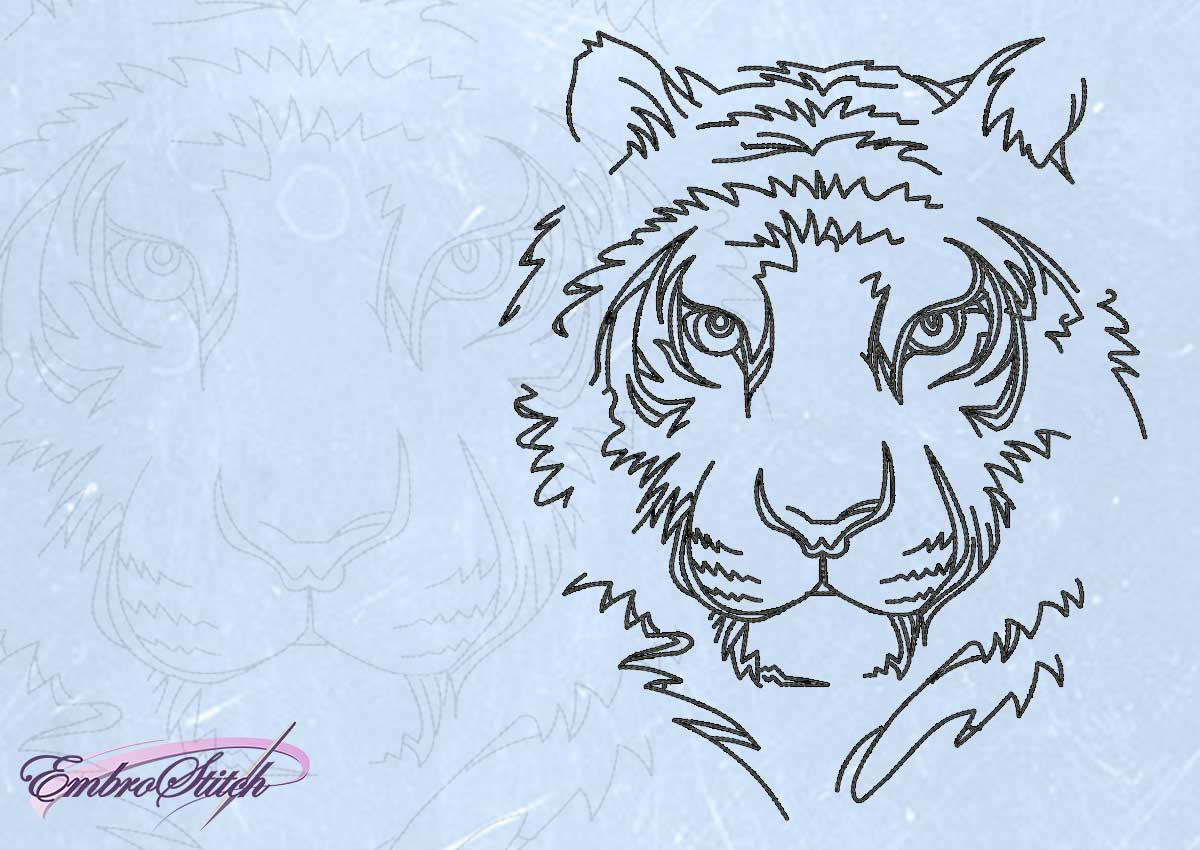 The embroidery design Resolute tiger