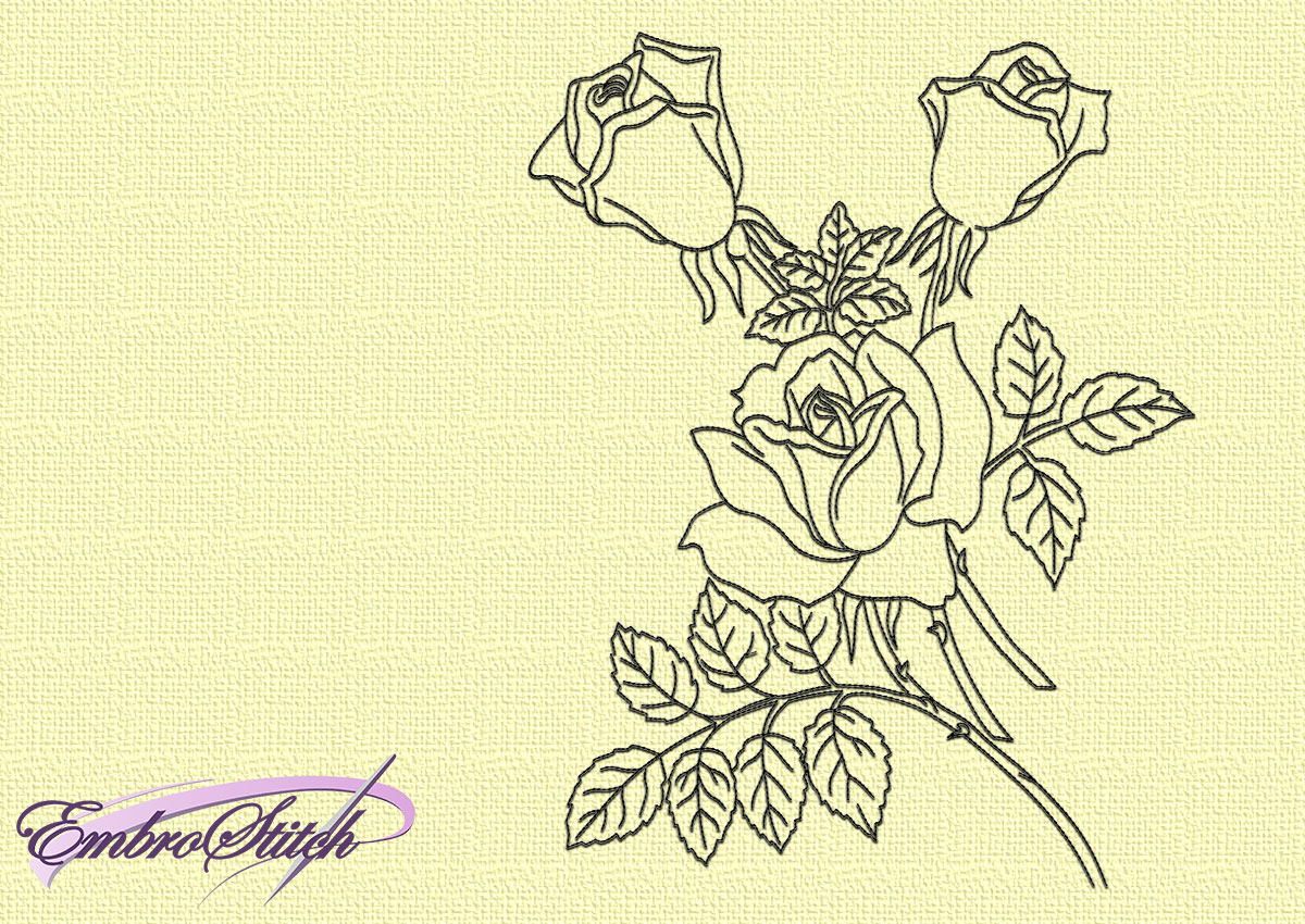 Various Flowers Embroidery Designs Pack 9 Qty