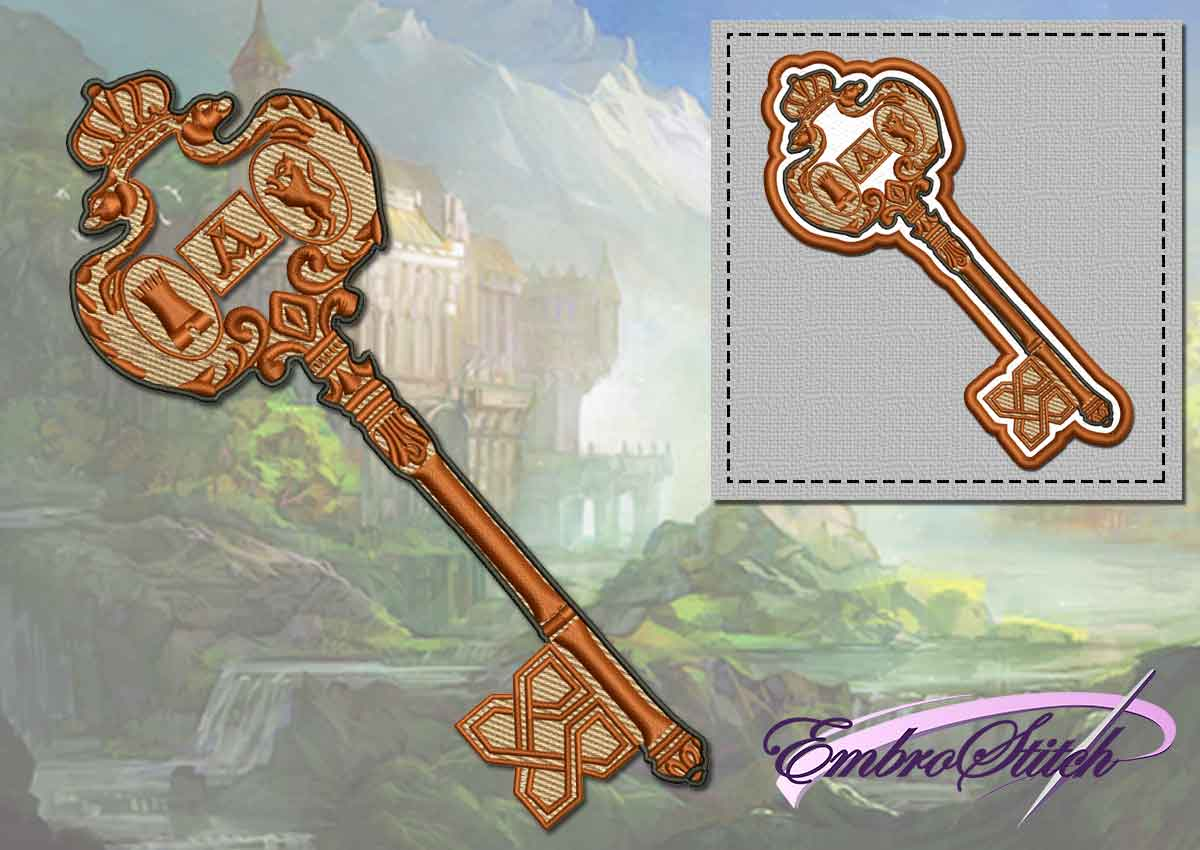 The embroidery design Royal key