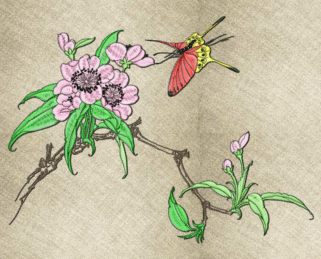 Sakura3 embroidery design