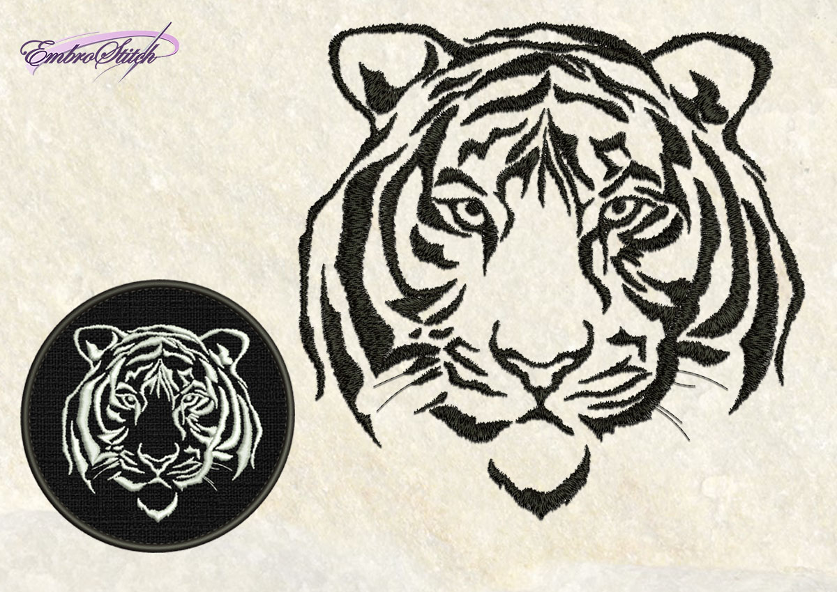 Imperious tiger embroidery design 4 sizes 8 formats embrostitch 599 the embroidery design serious tiger biocorpaavc