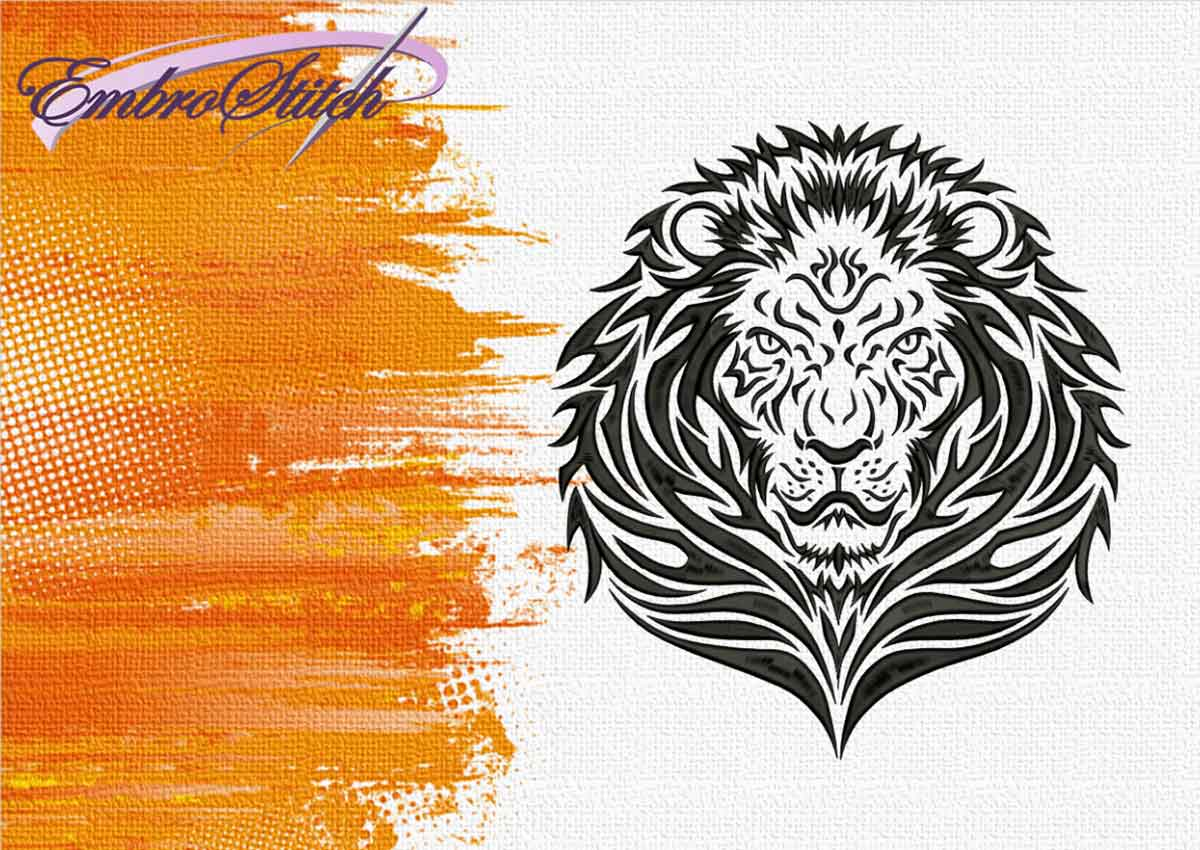 The embroidery design Serious Lion by EmbroStich