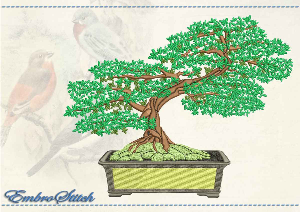 This Shakkanho Oak design was digitized and embroidered by Embrostitch studio