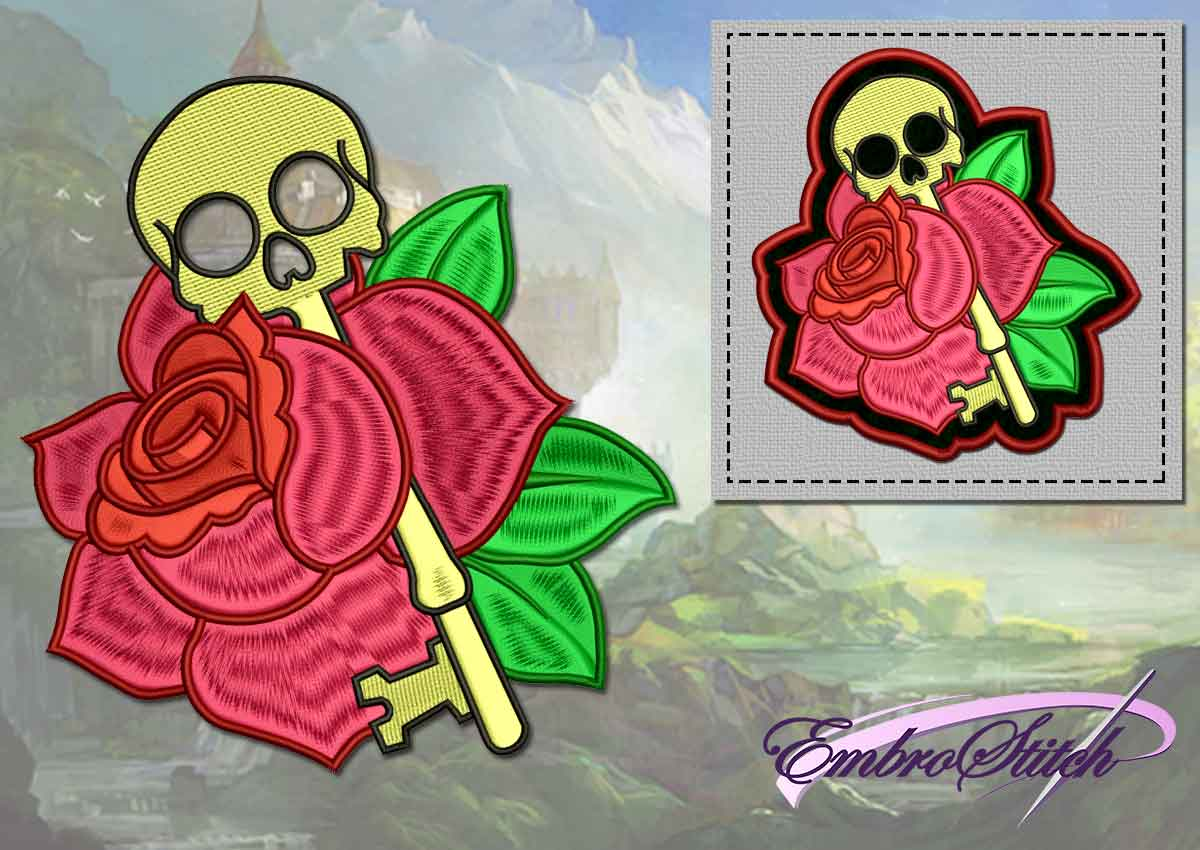 The embroidery design Skull-key