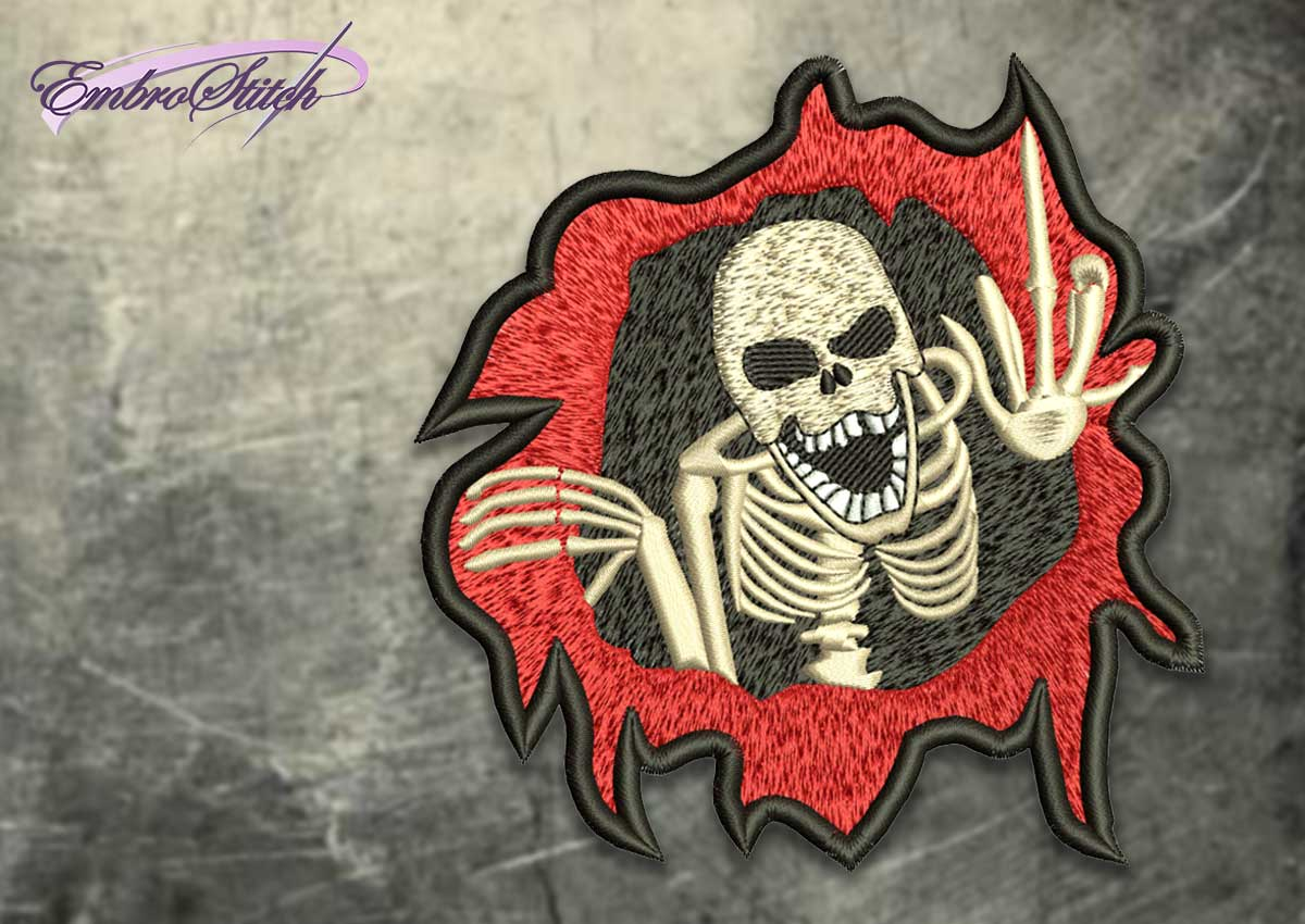 The embroidery design Skull from hell
