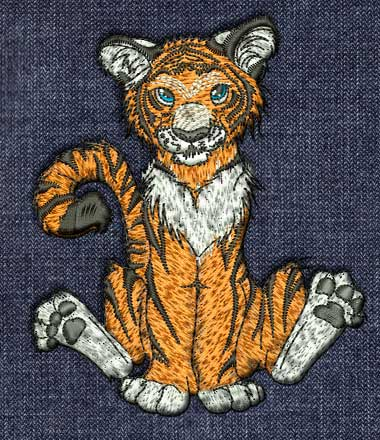 tiger cub embroidery patern