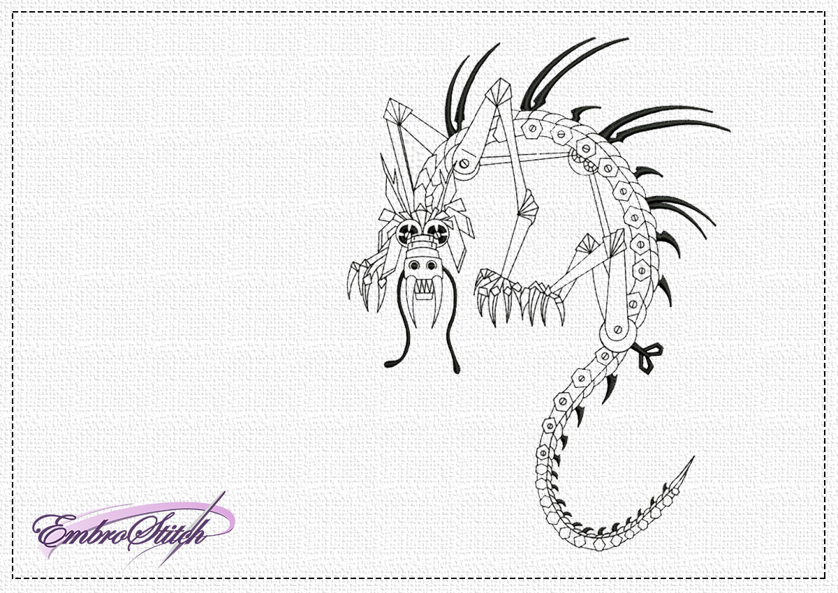 The embroidery design Steampunk dragon