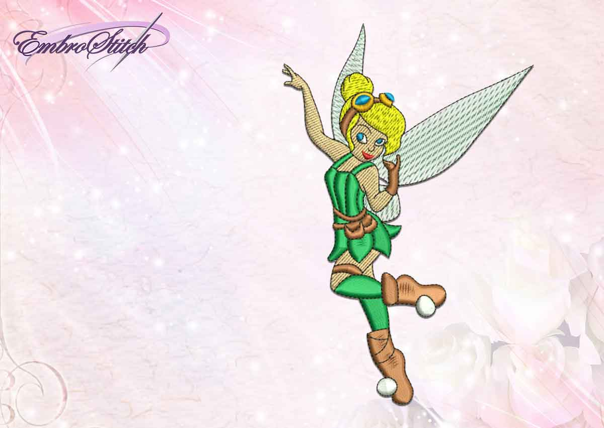 The professionally digitized embroidery design Steampunk fairy