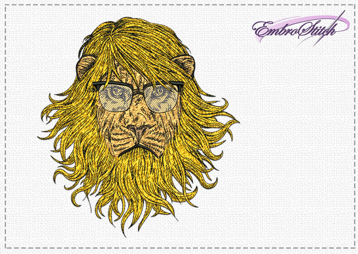 The high quality embroidery design Stylish lion