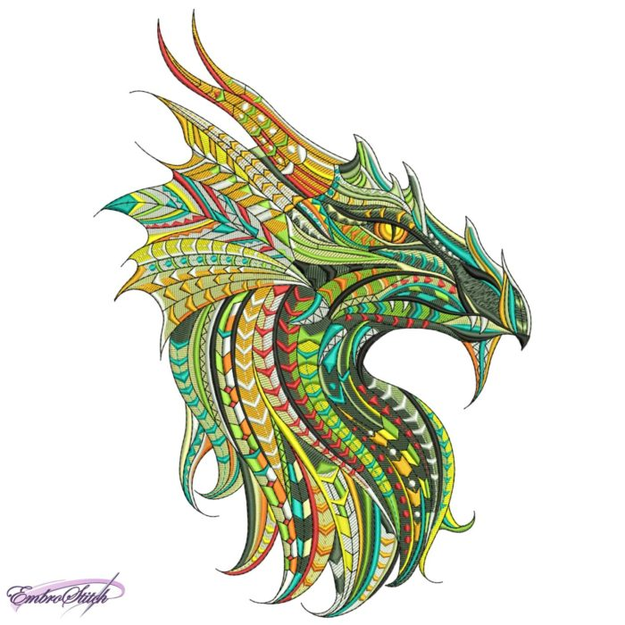 Stylized Dragon Head