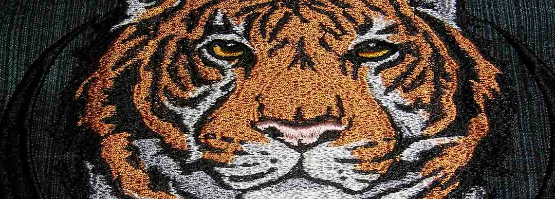 Tigers embroidery design by Embrostitch