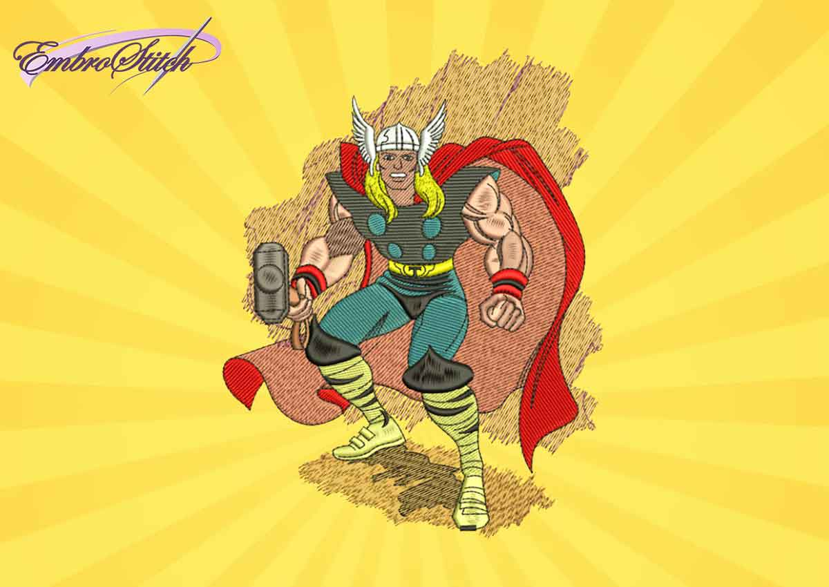 The embroidery design Thor from Marvel comics