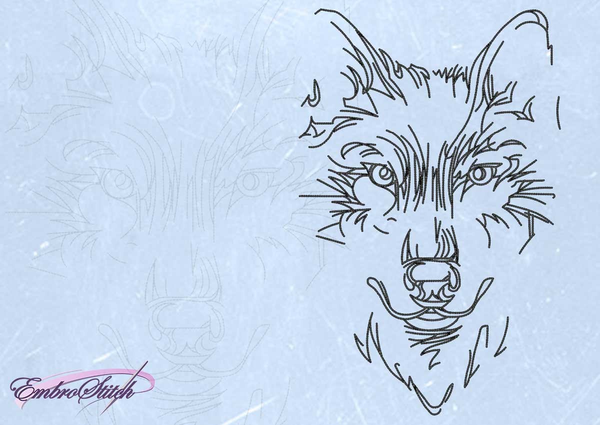 The embroidery design Unshakable wolf