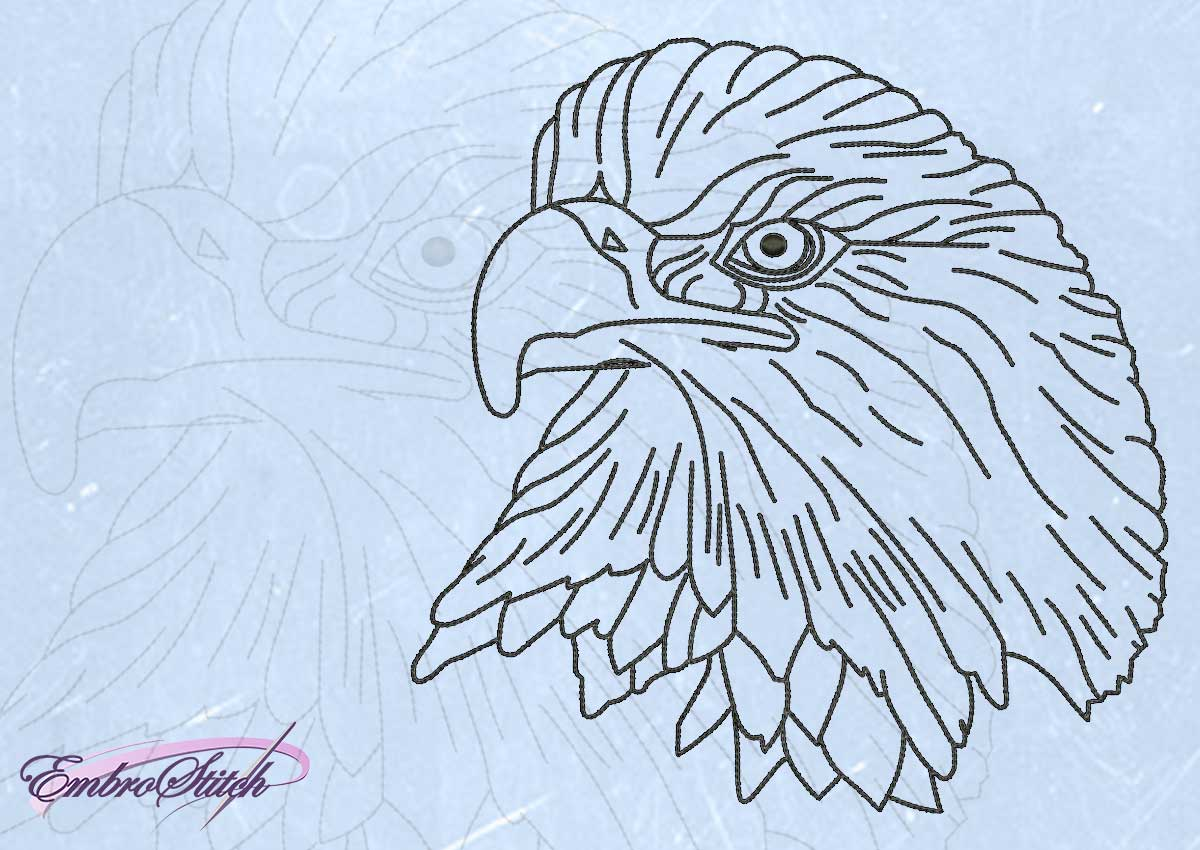 The embroidery design Wise eagle