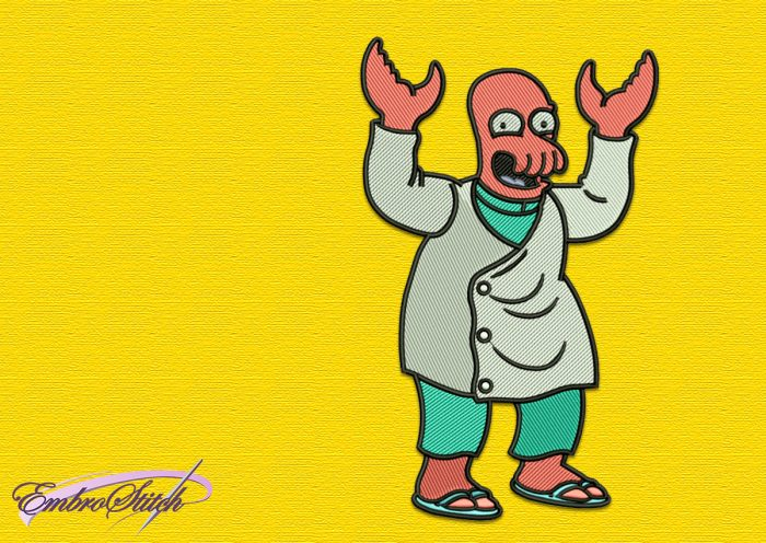 The embroidery design Zoidberg